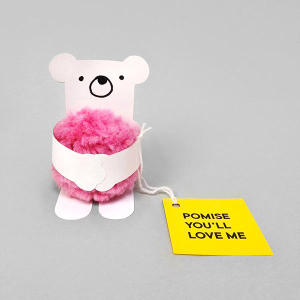Hug a Pompom! Valentine's Day Cards for Kids