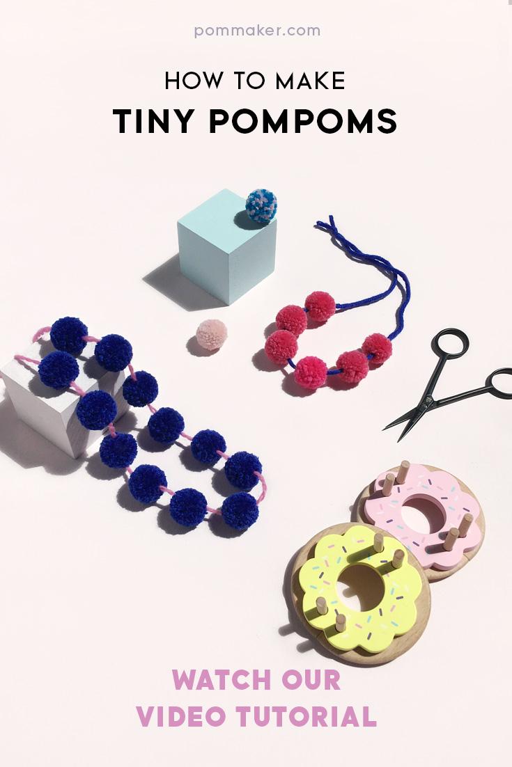 How To Make Tiny Pompoms with Pom Maker