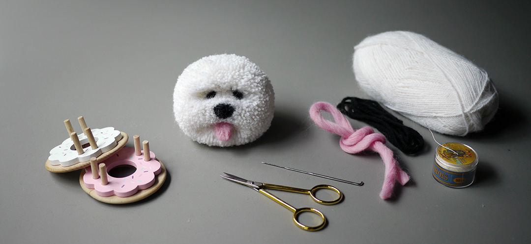 Pom Maker Tutorial - How to make a pom pom dog