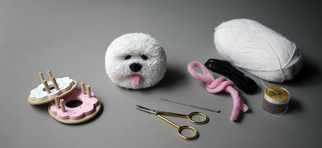 Pom Maker Tutorial - How to make a pom pom dog
