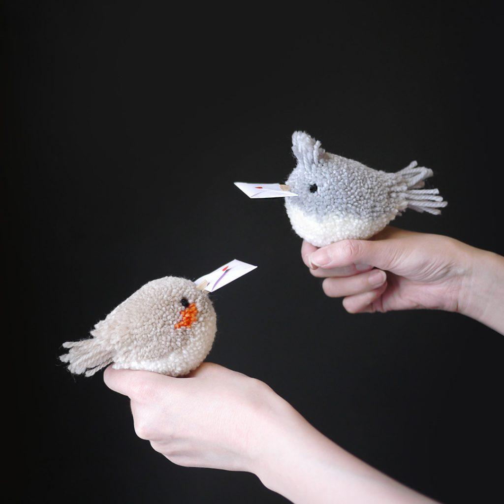How To Make A Pom Pom Love Bird Valentine S Day Craft